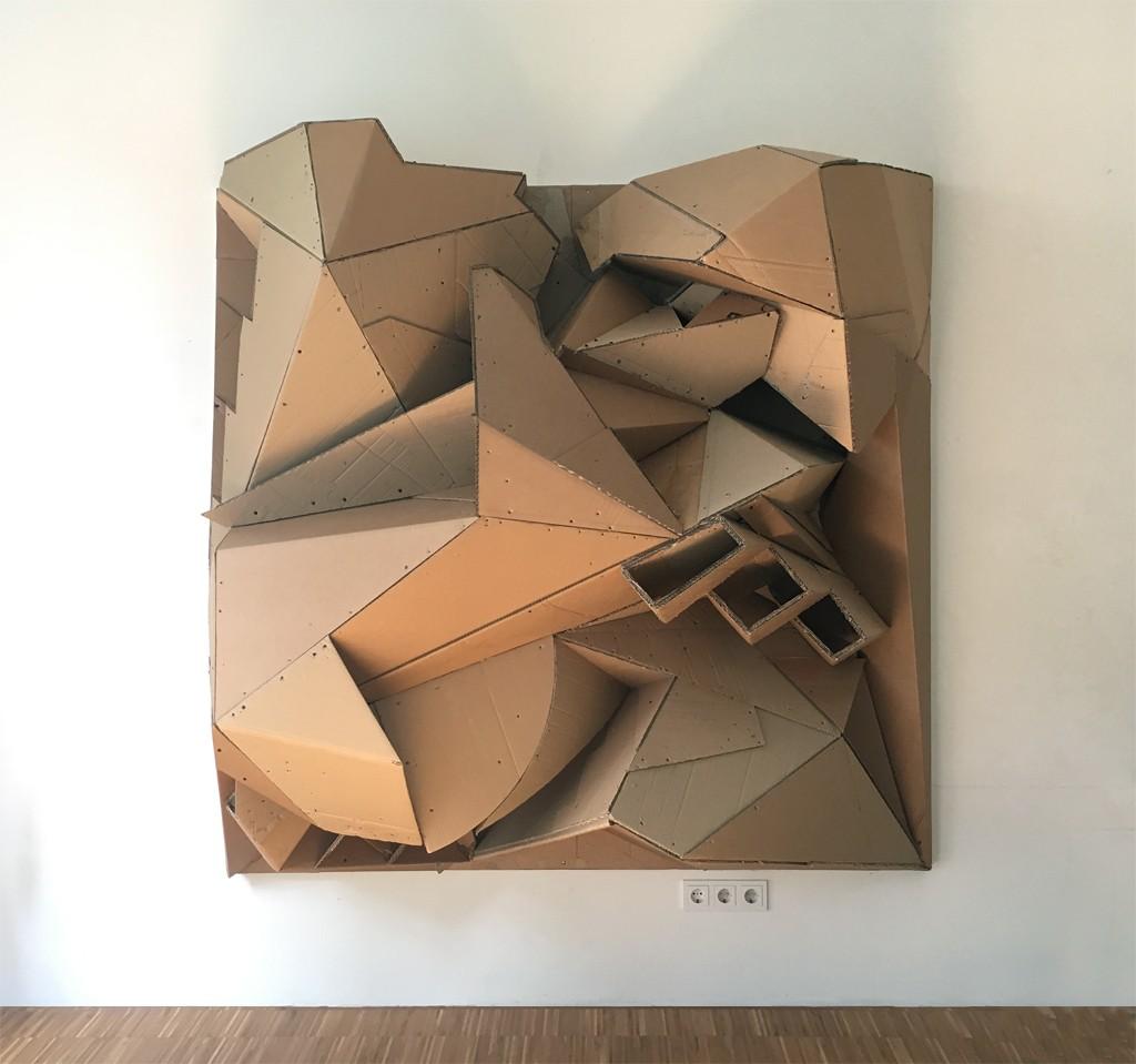 Mansy - 2018, cardboard, Florian Baudrexel