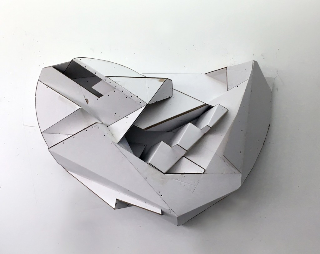 cardboard scultpure abstract