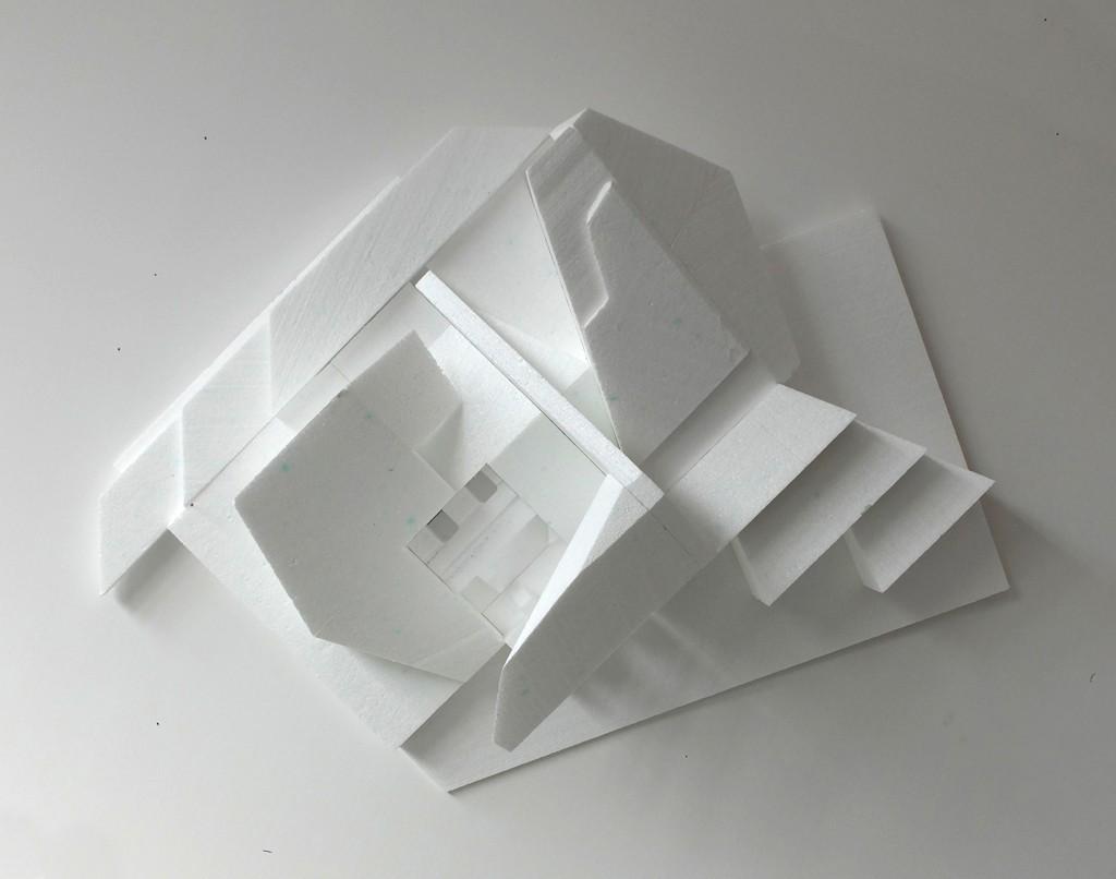 Florian Baudrexel abstract sculpture polystyrene